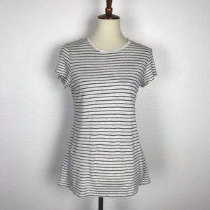 Vince Striped Stretch Knit Tee Shirt